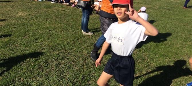 """大健闘!長男""""初""""のマラソン大会を応援"""