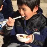 冬といえばコレ!長男、小学校の餅つき大会!